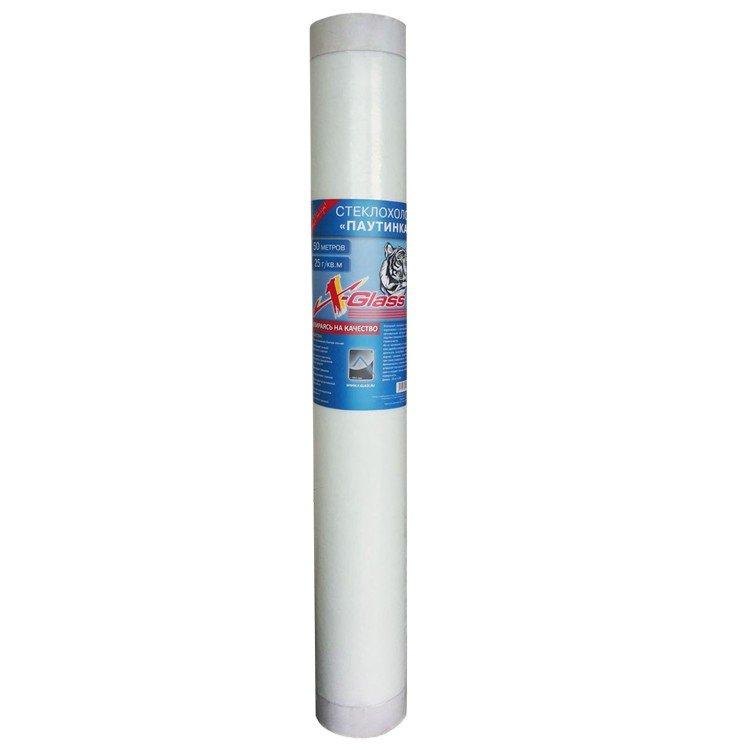 Стеклохолст Х-GLASS паутинка 40гр/м2 (50м2) - фото
