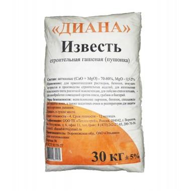 """купить Известь-пушонка гашеная 30кг """"Диана"""" в Саранске"""