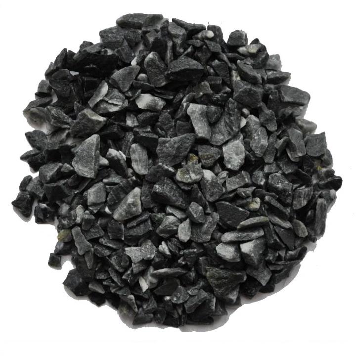 Щебень декор. ЧЕРНЫЙ ДОЛОМИТ (мрамор черный) 50кг - фото