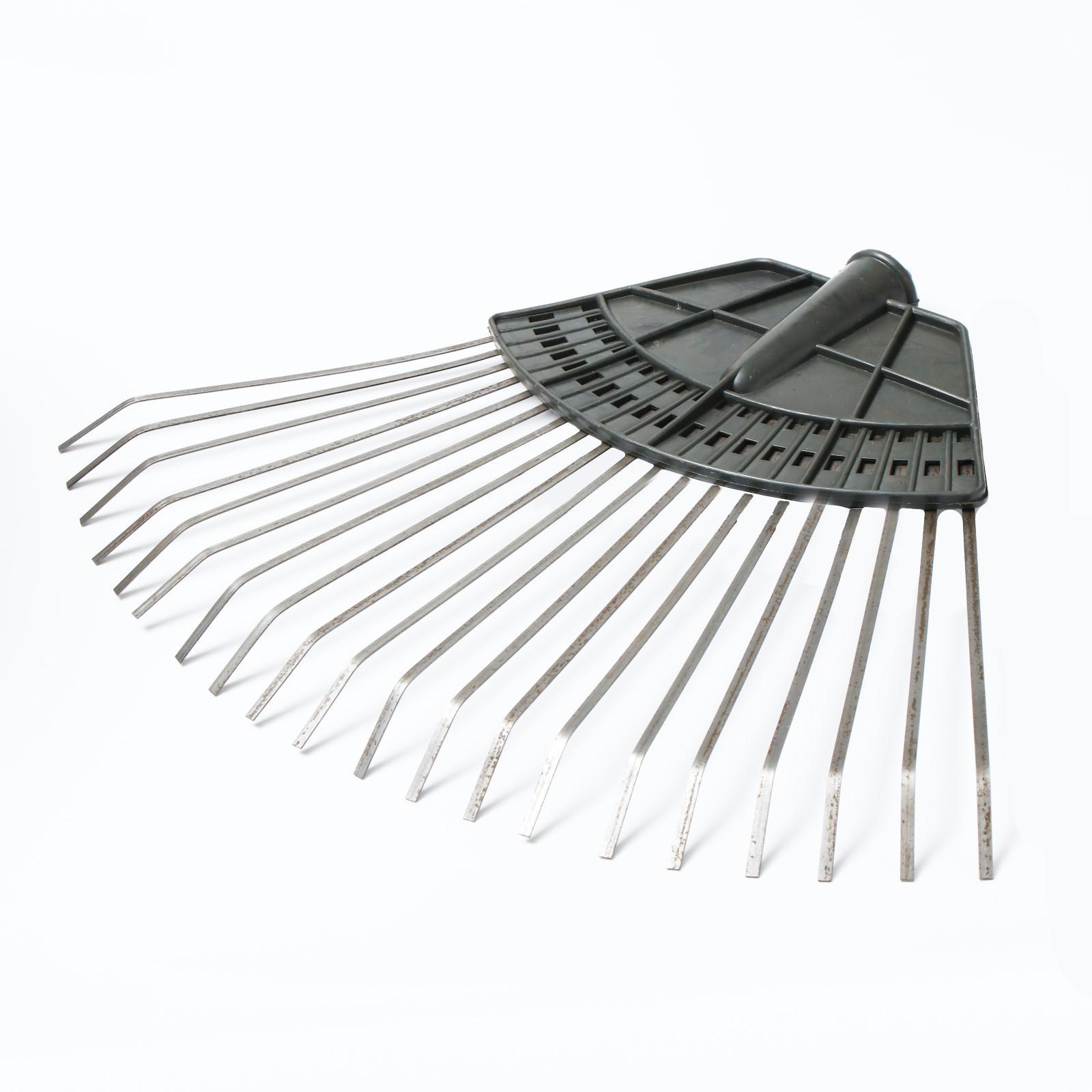 Грабли веерные пластинчатые с пластиковой тулейкой 20зуб - фото