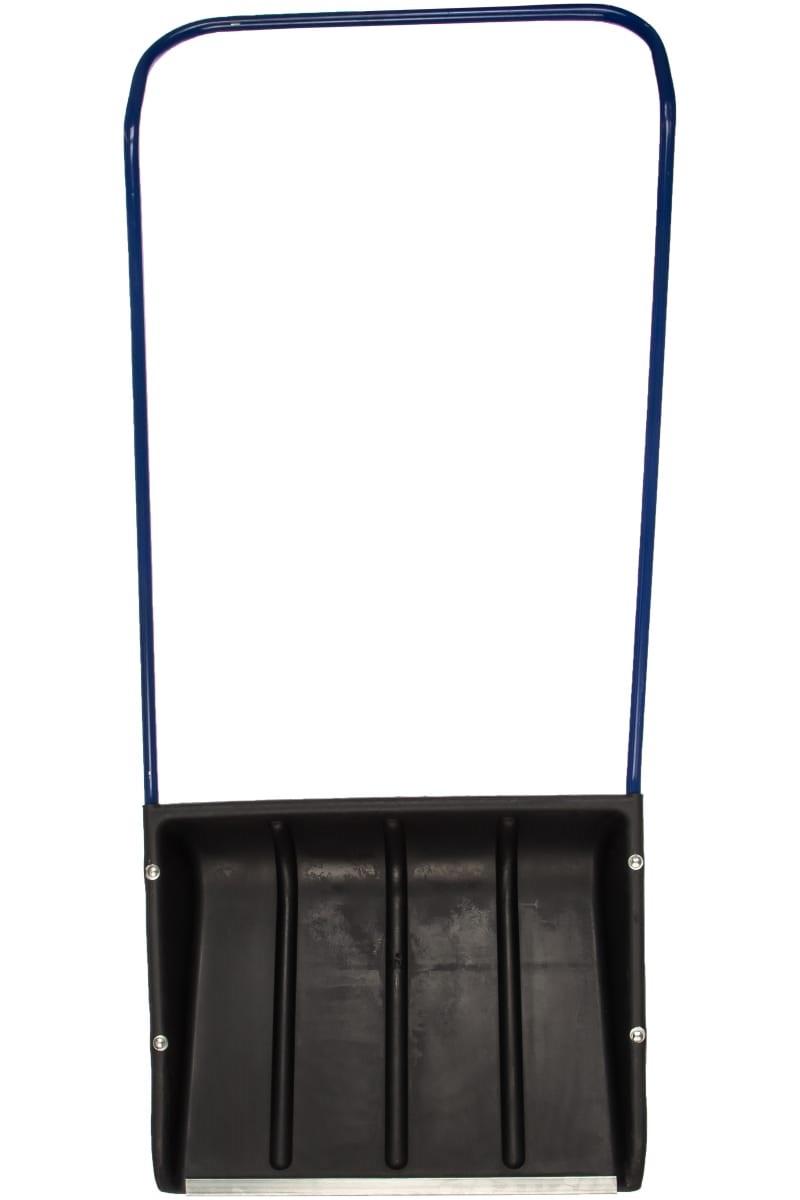 Лопата Движок 600*480 пластик с рукояткой - фото