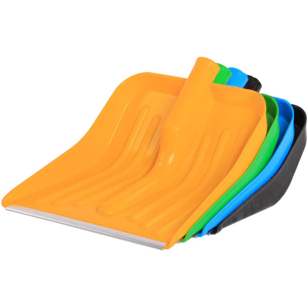 Лопата снеговая КОМБАТ 430*370 цветная б/черенка - фото