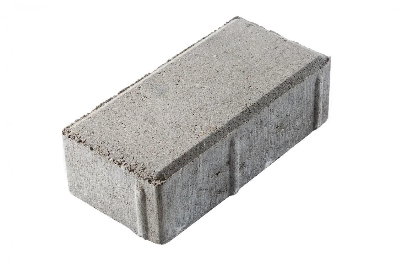 Тротуарная плитка Кирпичик 200*100*60 мм Standart серая - фото