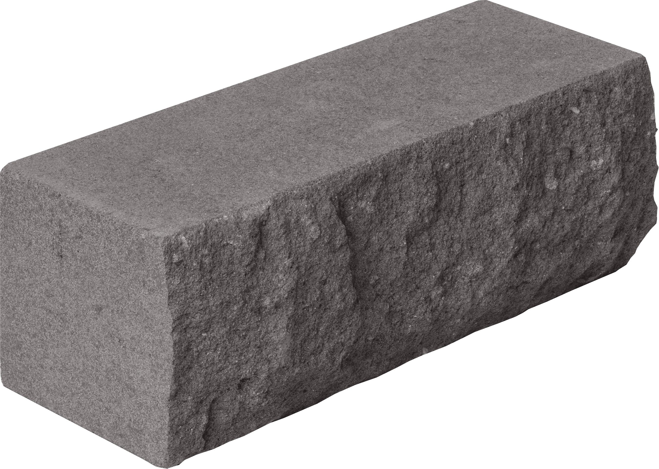 Кирпич рельефный угловой 225*95*88 серый (226шт/уп) - фото