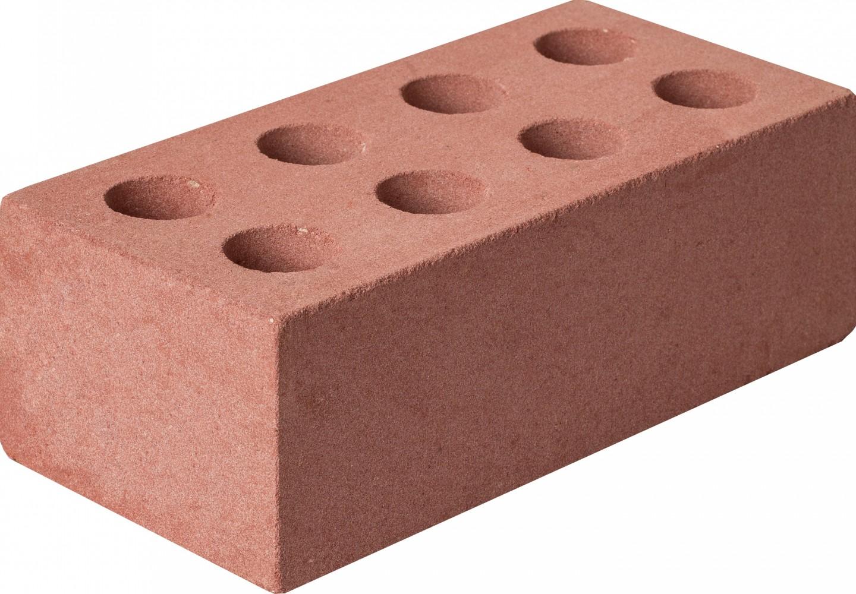 Кирпич силикатный ГОСТ 379-95 утолщенный лицевой пустотелый розовый М150 - фото