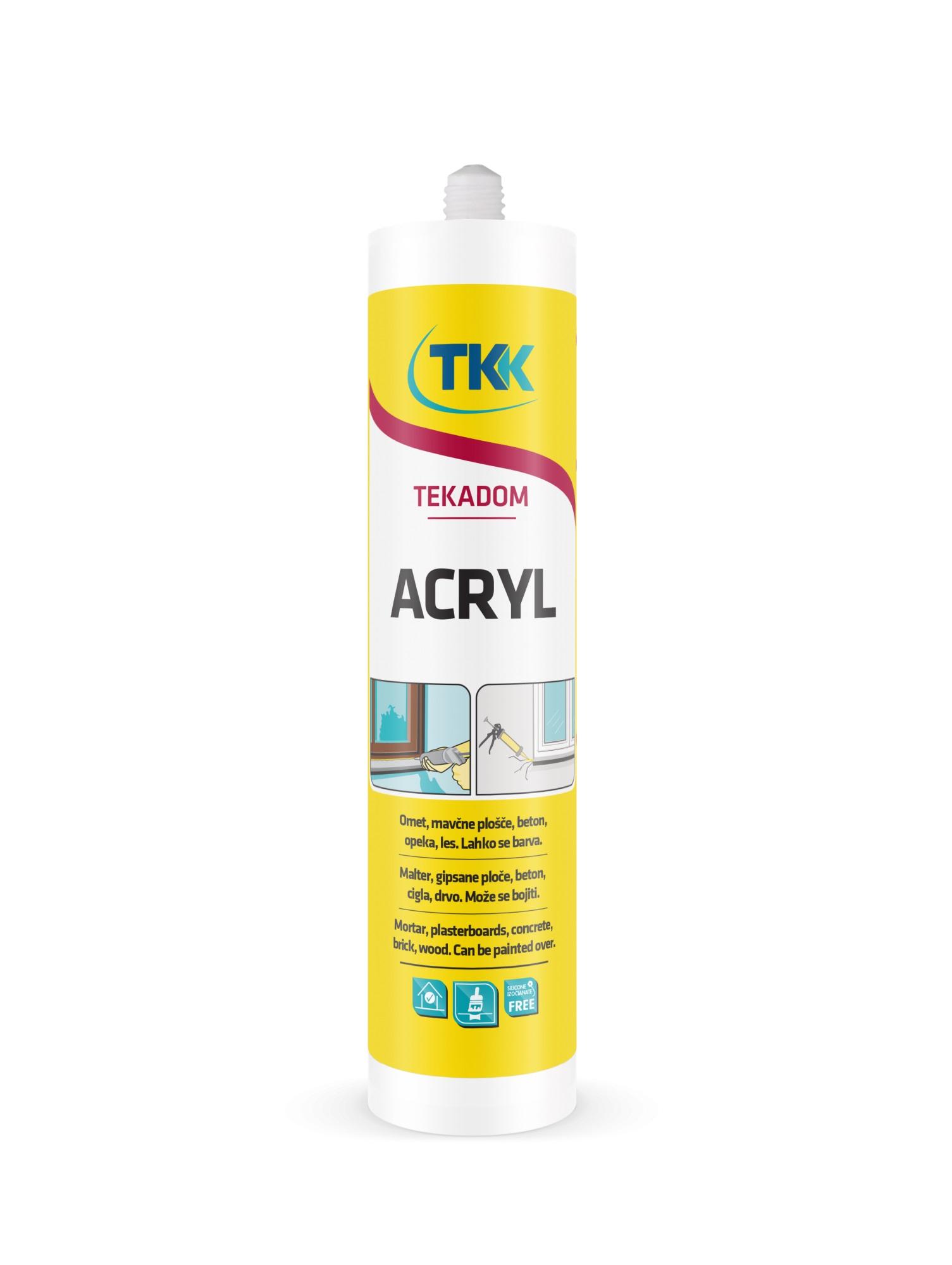 Герметик акриловый белый 300мл Tekadom Acryl 5036 - фото