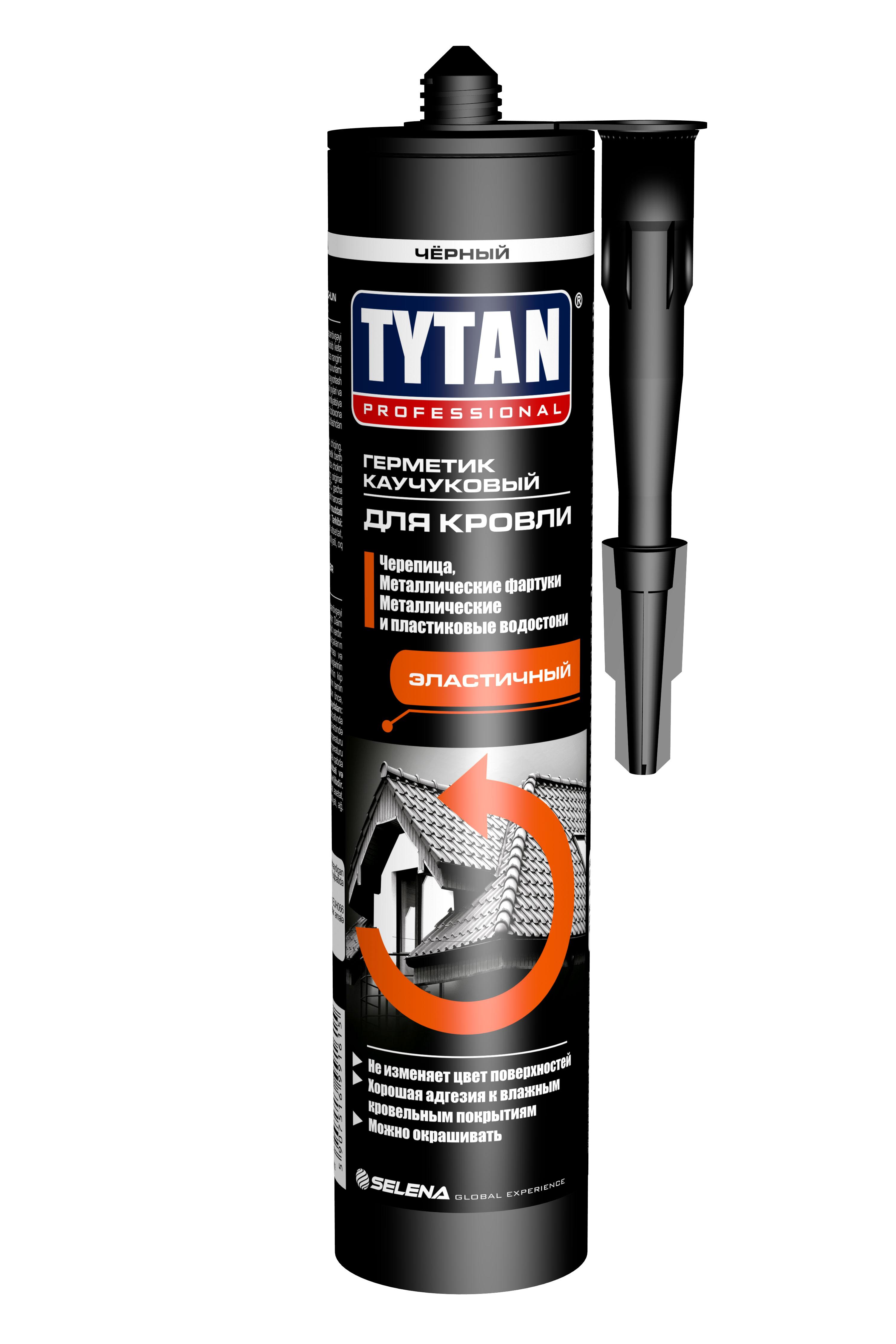Герметик для кровли каучуковый TYTAN черный 310 мл - фото
