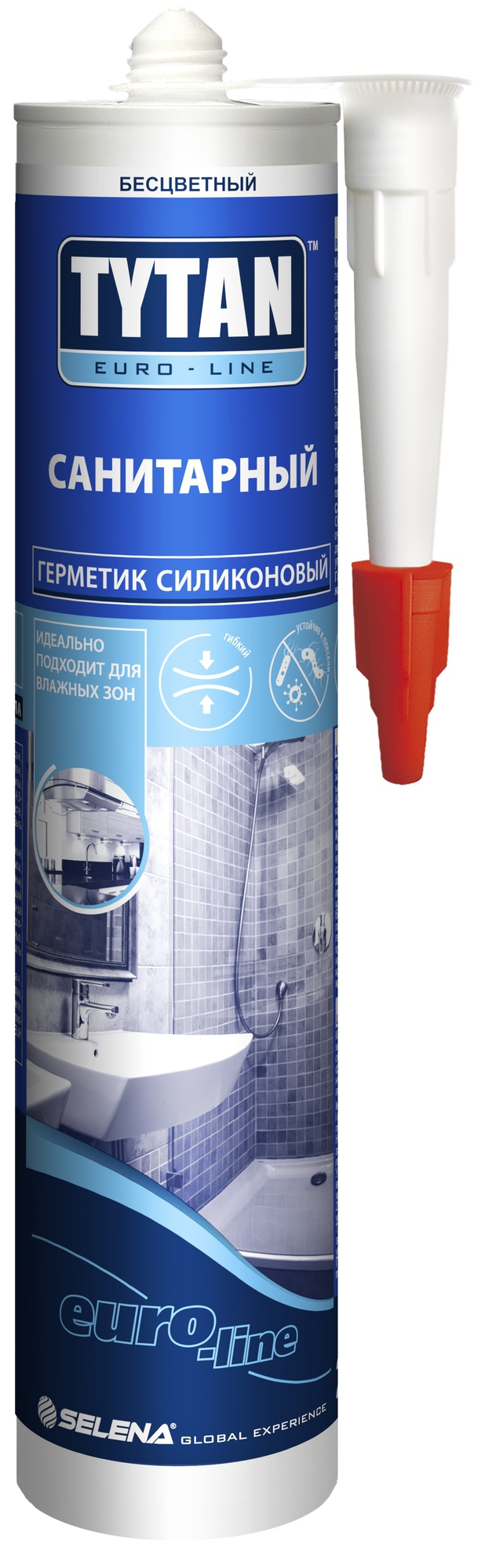 Силикон санитарный TYTAN EURO-LINE белый 290мл - фото