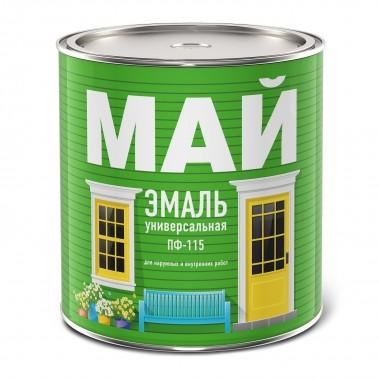 купить Эмаль МАЙ ПФ-115 белая 0,8кг в Саранске