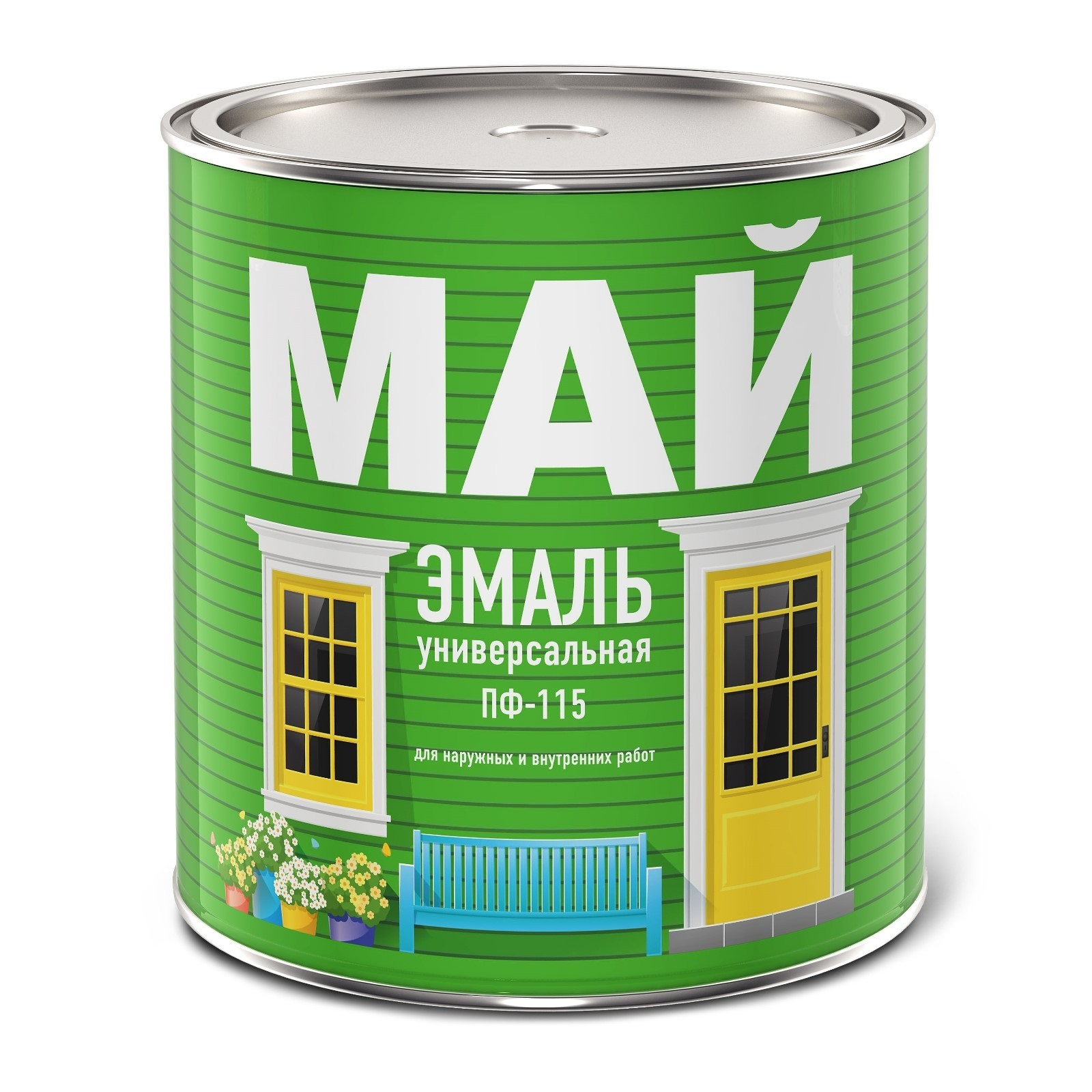 Эмаль МАЙ ПФ-115 белая 23кг - фото