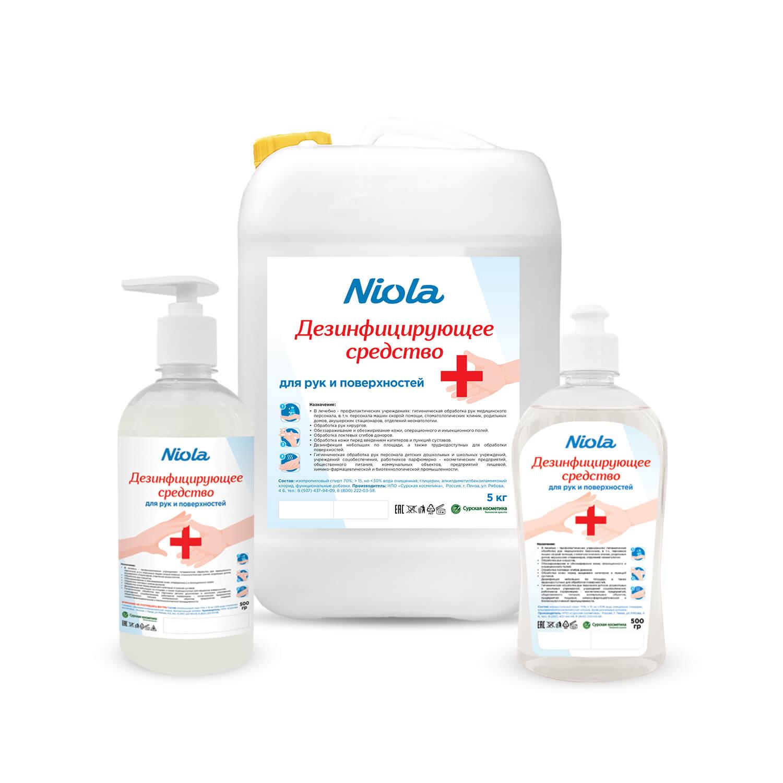 Средство для дезинфекции рук и поверх. Niola (0.5л)  - фото
