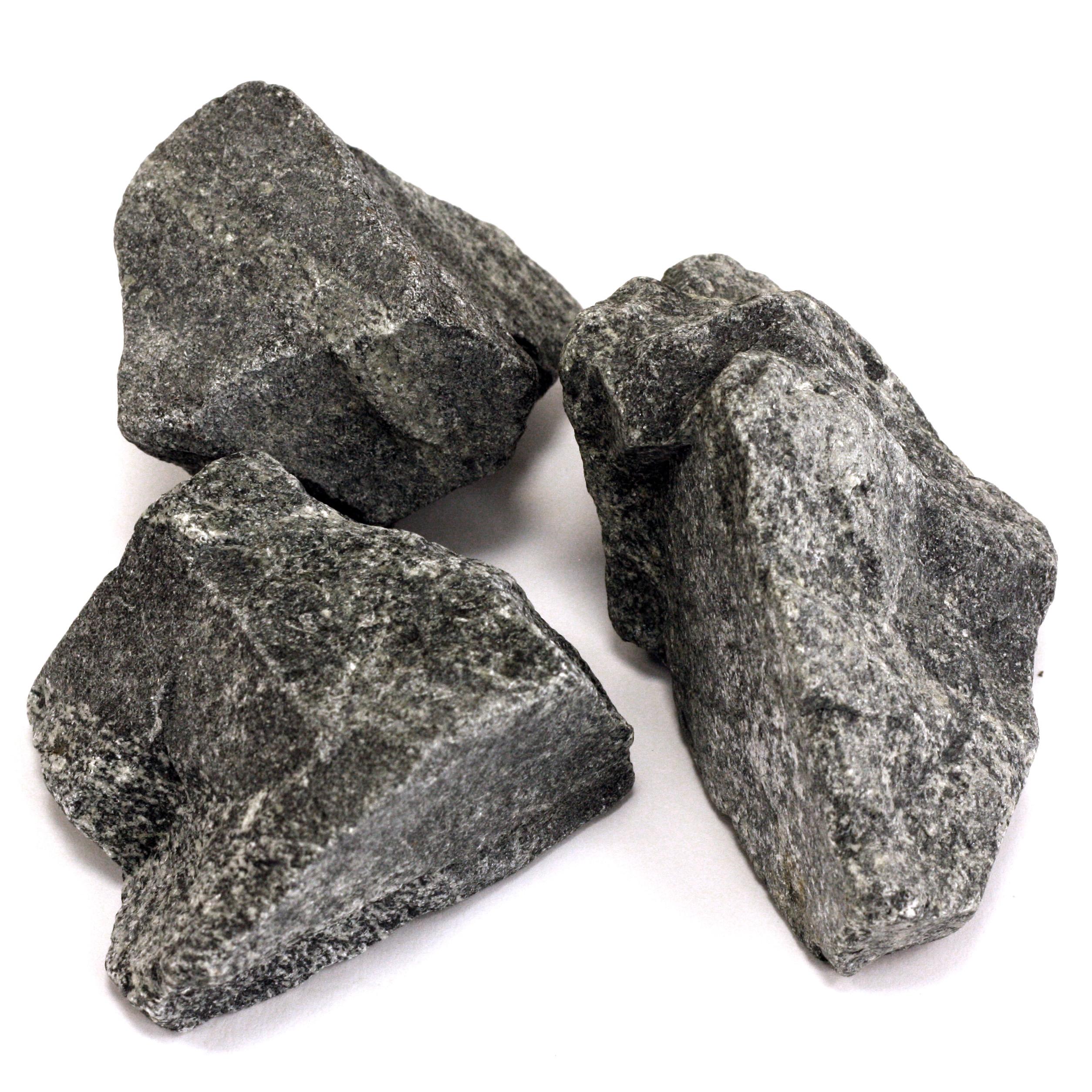 Камень для бани Габро-Диабаз колотый 20кг - фото