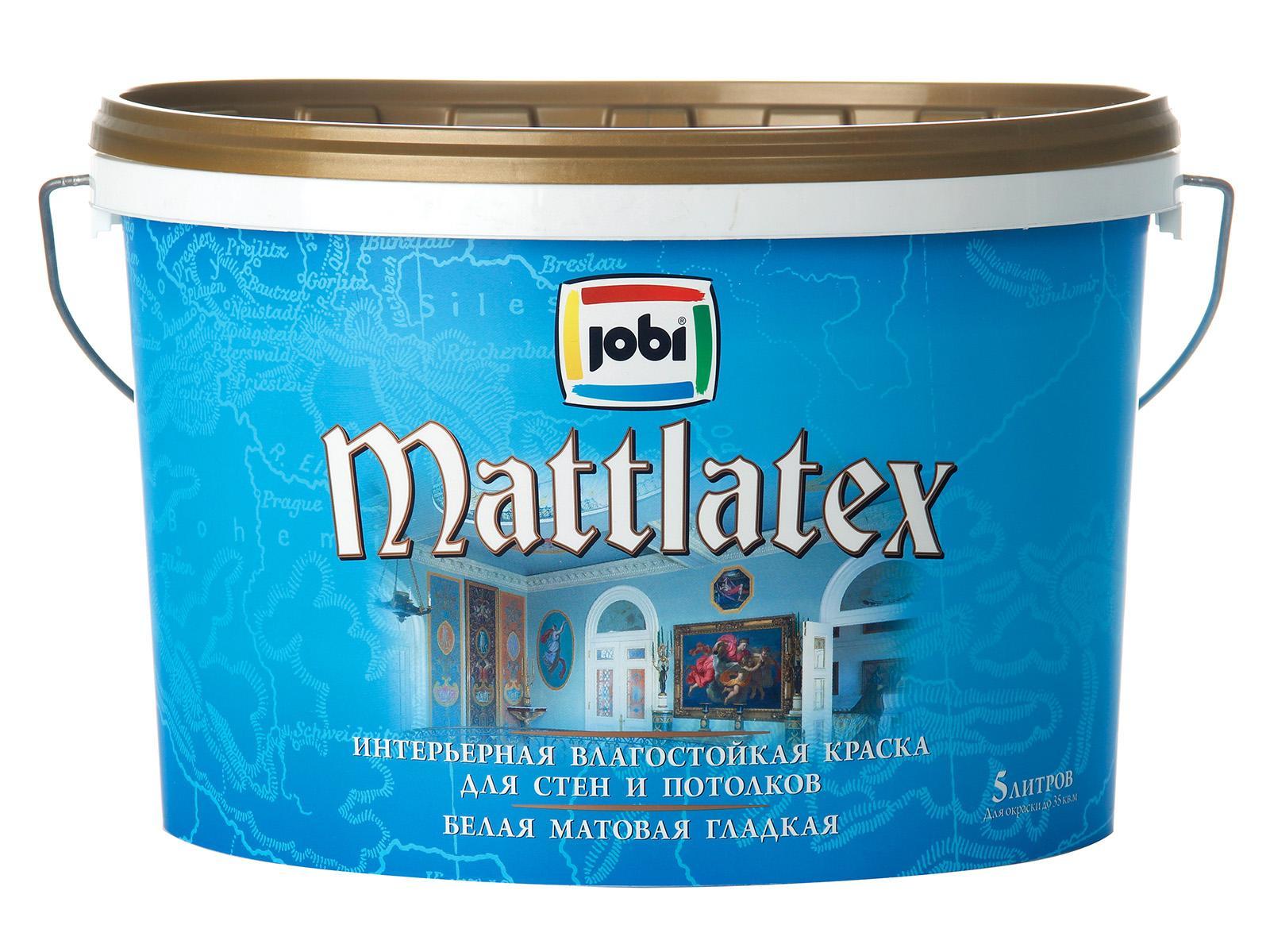 Краска в/д влагостойкая jobi MATTLATEX 04 5 л - фото