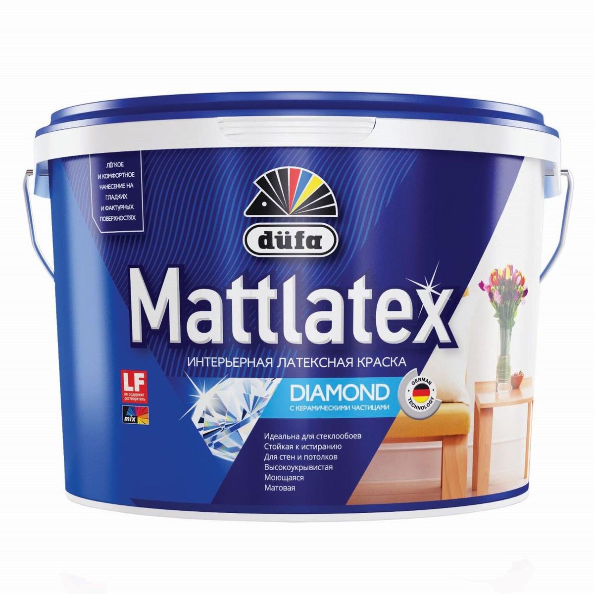 Краска В/Д Dufa Mattlatex RD-100 интерьерная латексная 10л - фото