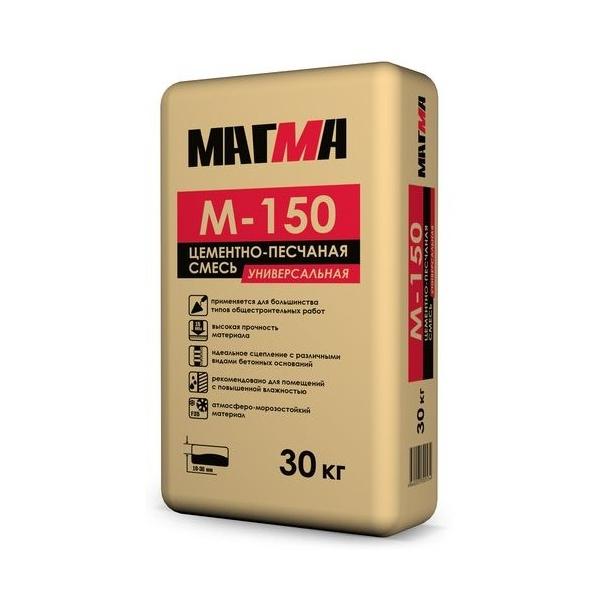 Цементно-песчаная смесь М-150 30 кг Магма - фото