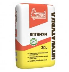 Штукатурка серая Оптимум 30кг цемент-гипсовая Старатели