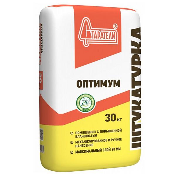 Штукатурка серая Оптимум 30кг цемент-гипсовая Старатели - фото