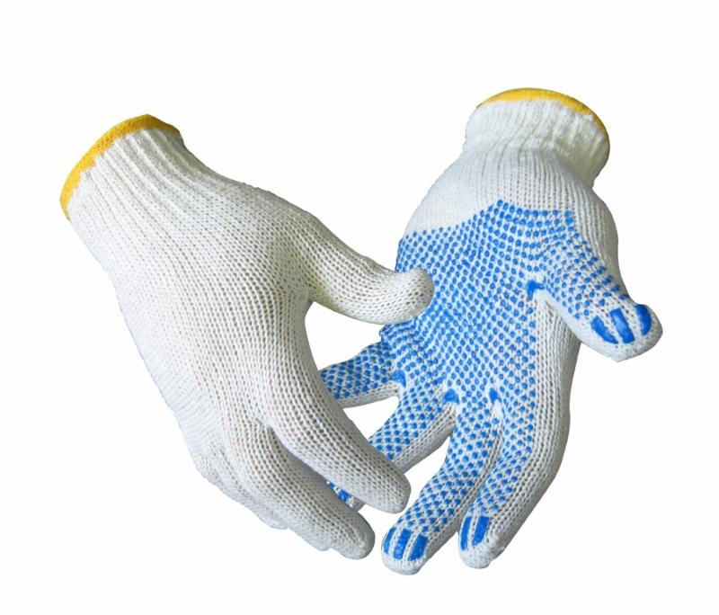 Перчатки х/б 5-ти нитка с ПВХ - фото