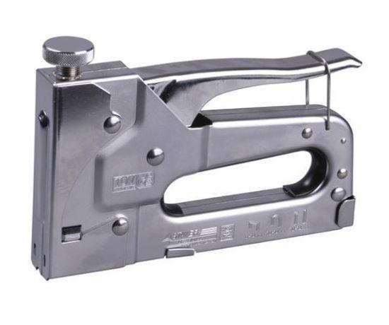 Степлер с регулировкой силы удара 4-14 мм - фото